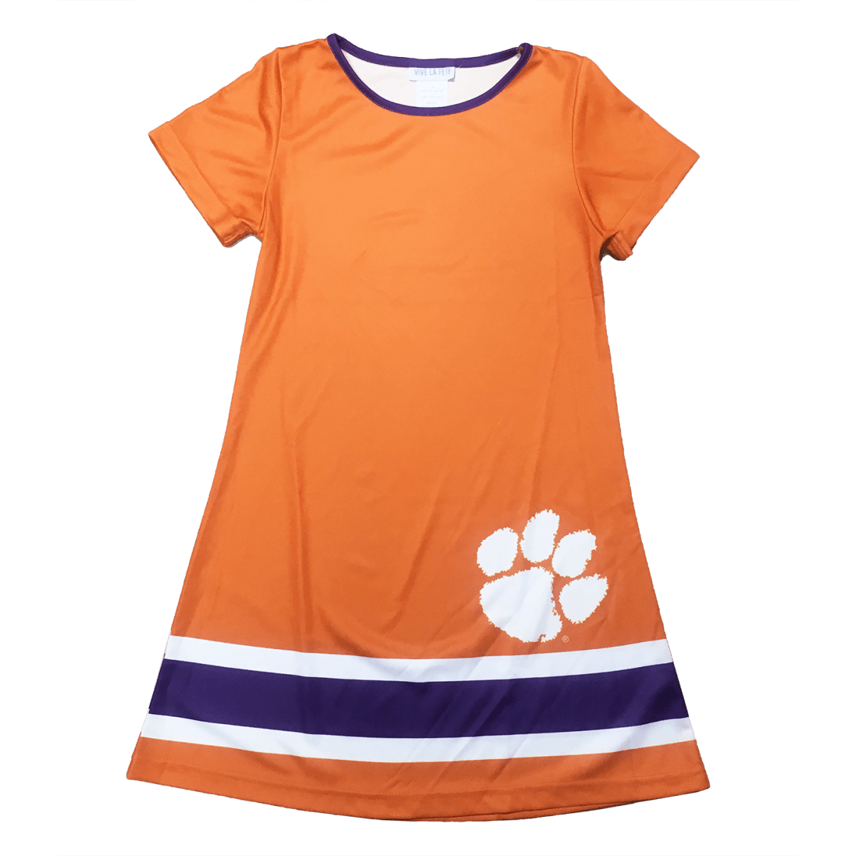 Clemson Tigers Short Sleeve A Line Dress - Mr. Knickerbocker