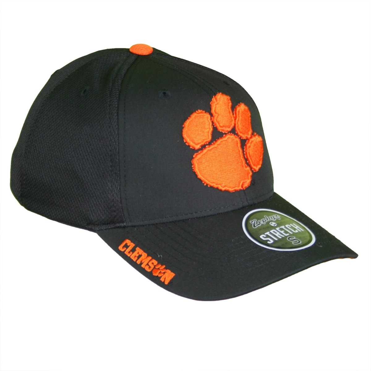 Clemson Tigers Stretch Fit Paw Print Stretch Fit Hat - Black - Mr. Knickerbocker