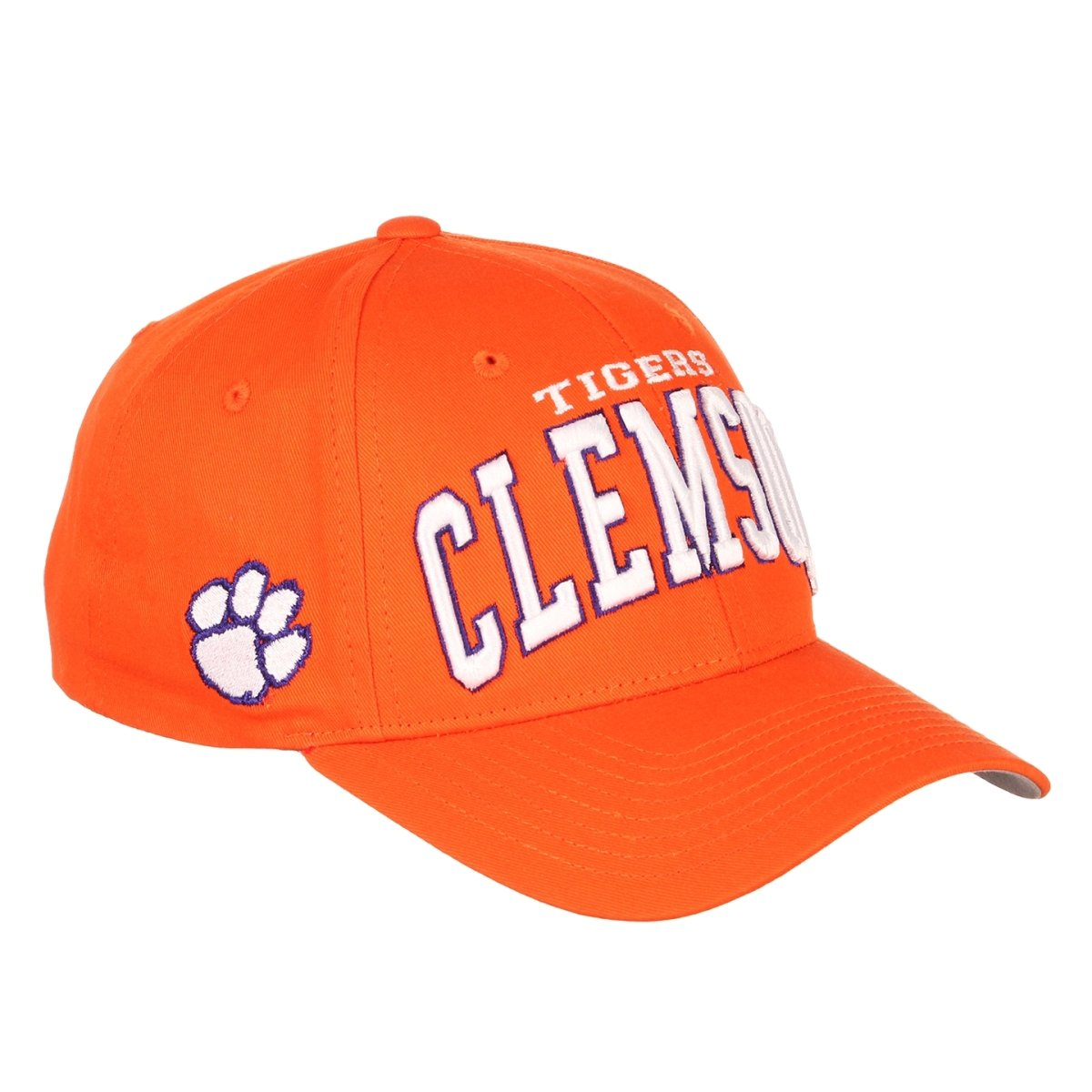 Clemson Tigers Super 19 Snapback Hat With Tigers of Clemson Arch and White Paw on Side - Mr. Knickerbocker