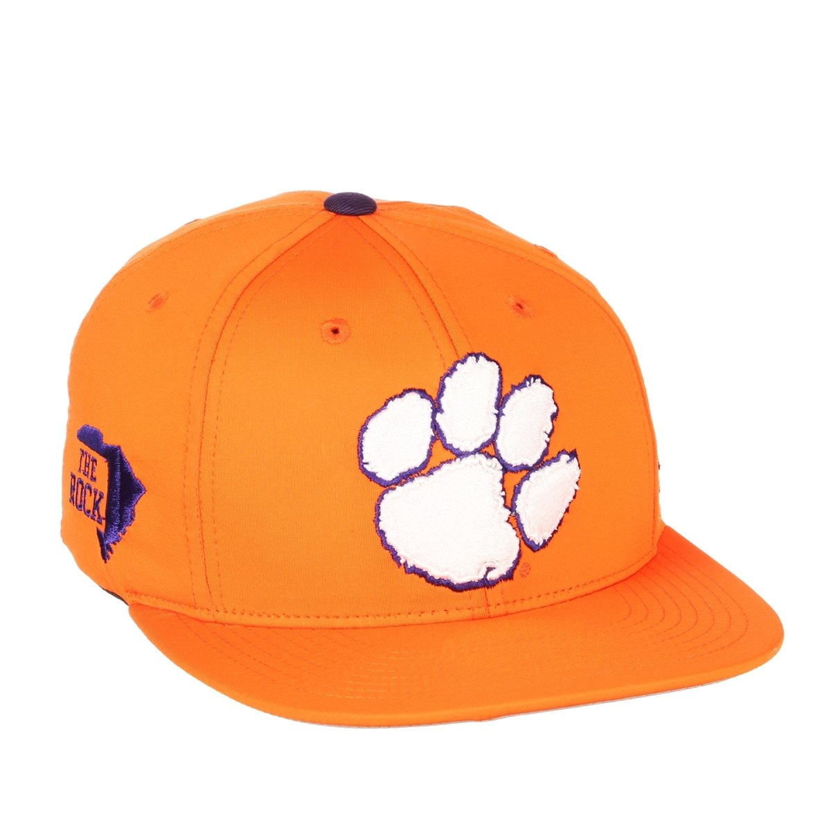 Clemson Tigers the Rock Fleet Fitted Baseball Cap - Orange - Mr. Knickerbocker
