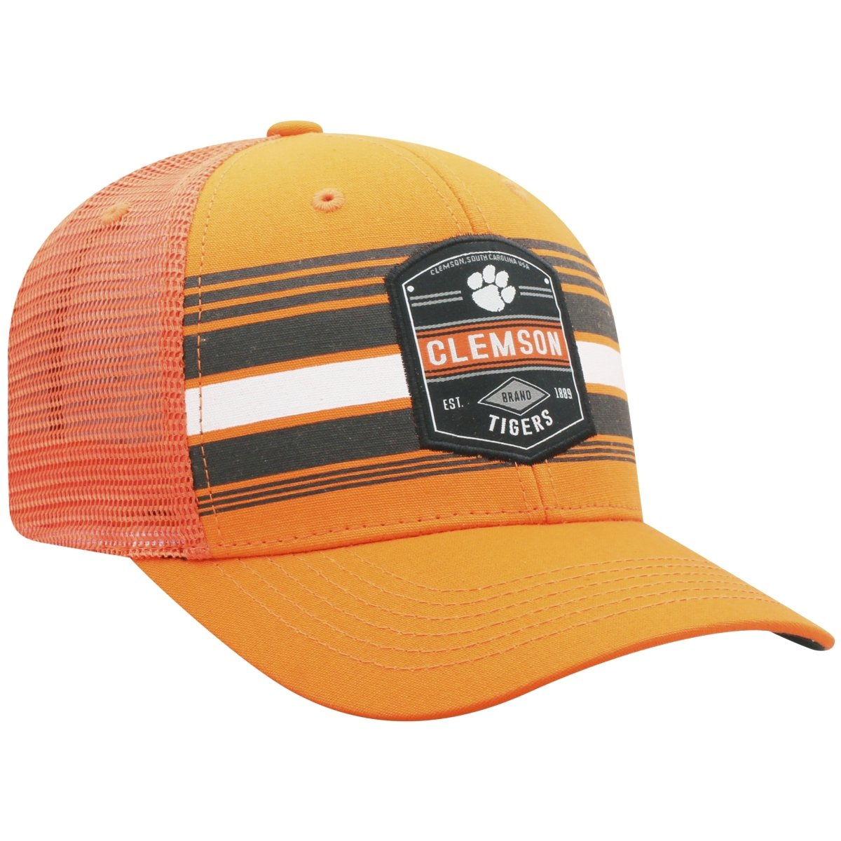 Clemson Tigers Top of the World Branded Trucker Adjustable Snapback Hat - Orange - Mr. Knickerbocker