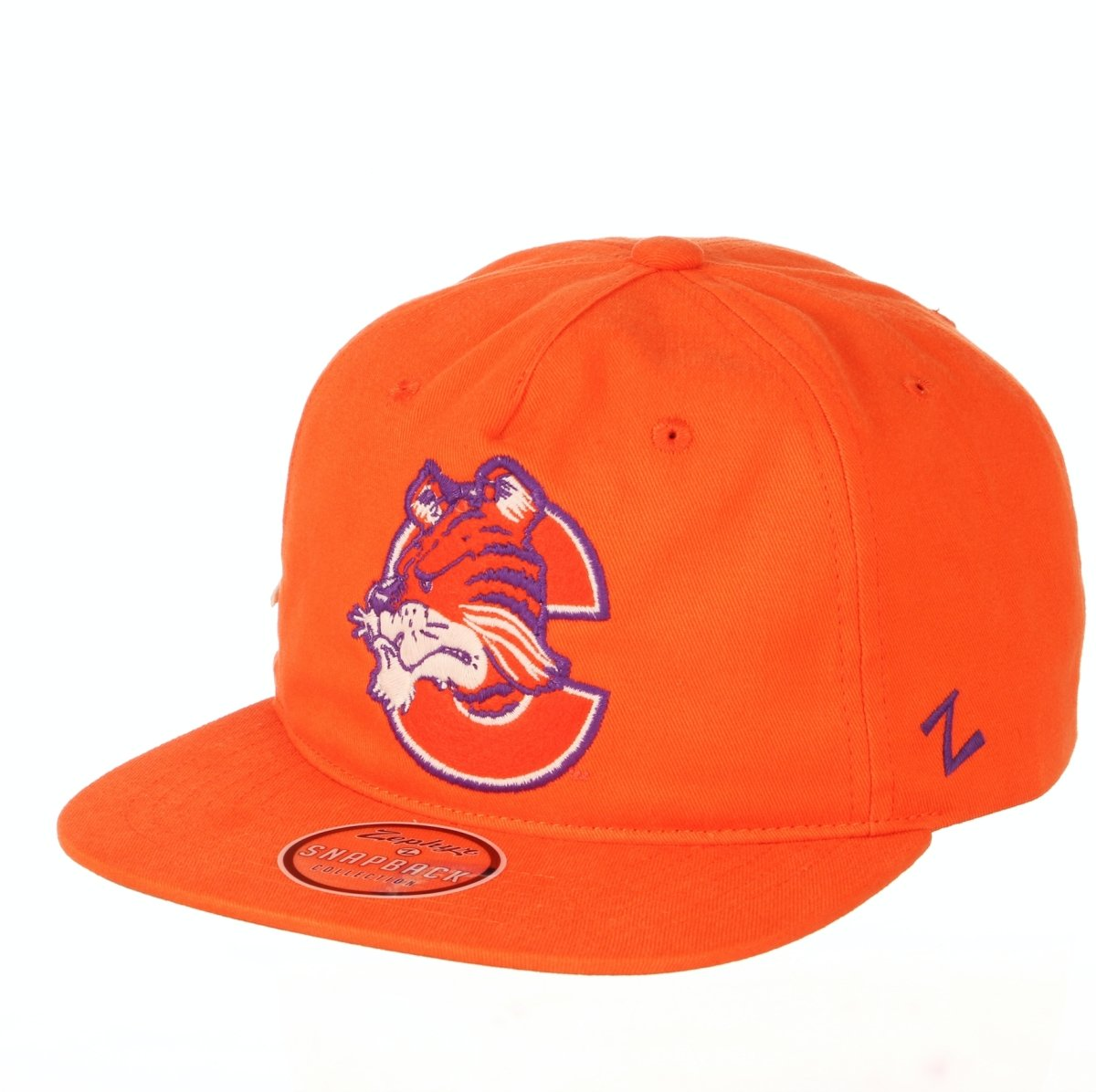 Clemson Tigers Vault Logo Adjustable Snapback - Orange - Mr. Knickerbocker