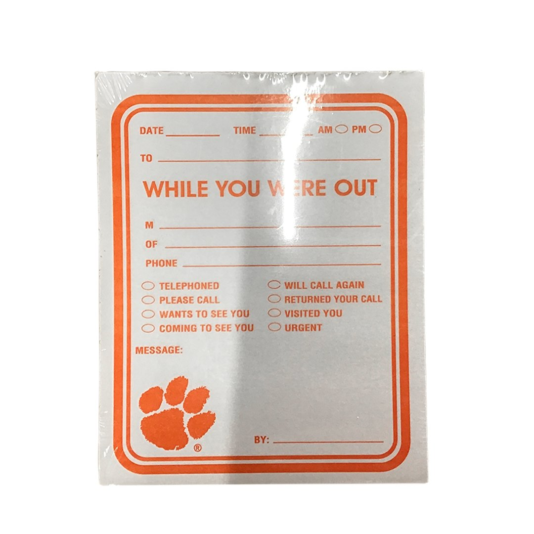"Clemson Tigers ""While You Were Out"" Notepad - Mr. Knickerbocker"