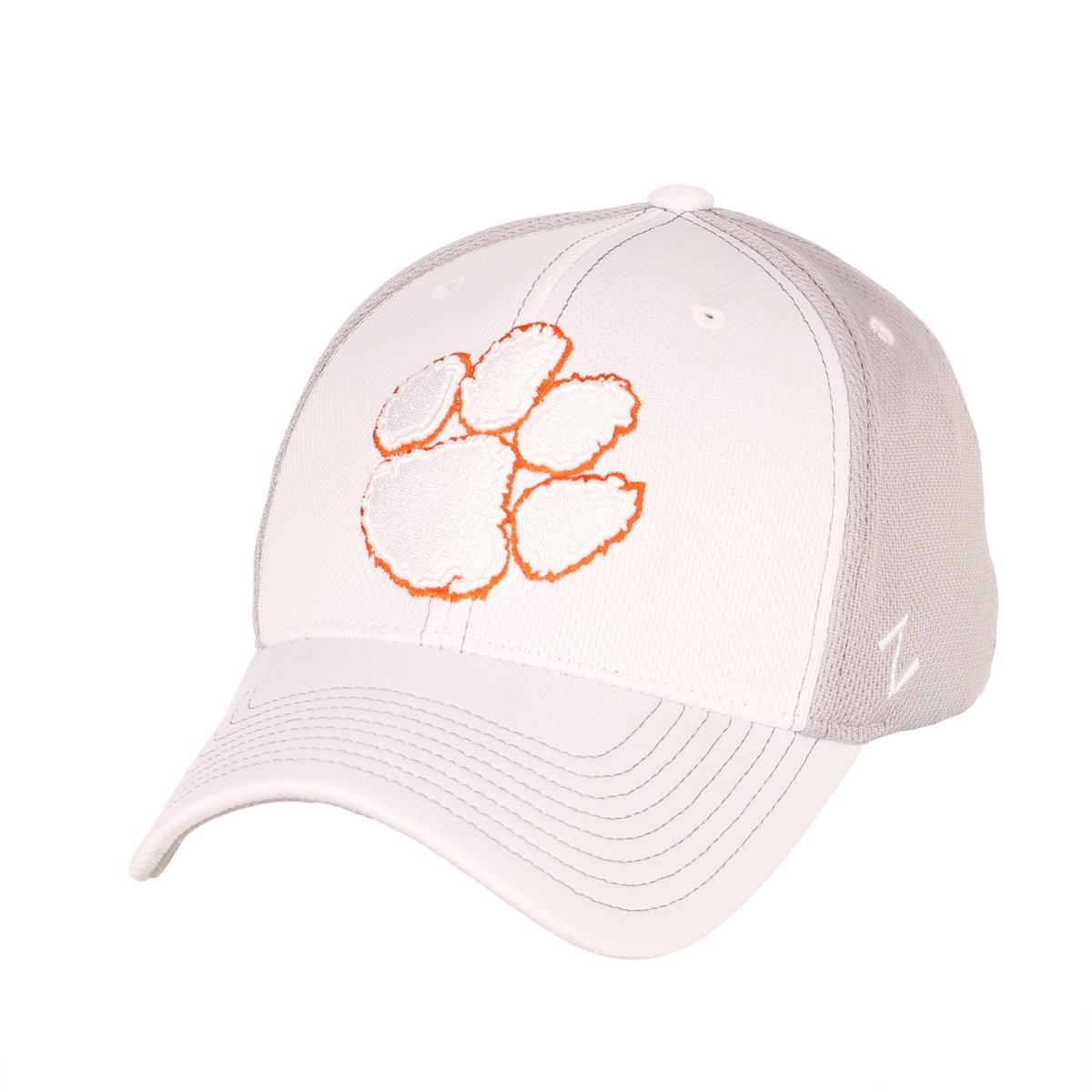 Clemson Tigers Yeti White Baseball Hat With White Paw and Orange Outline - Mr. Knickerbocker
