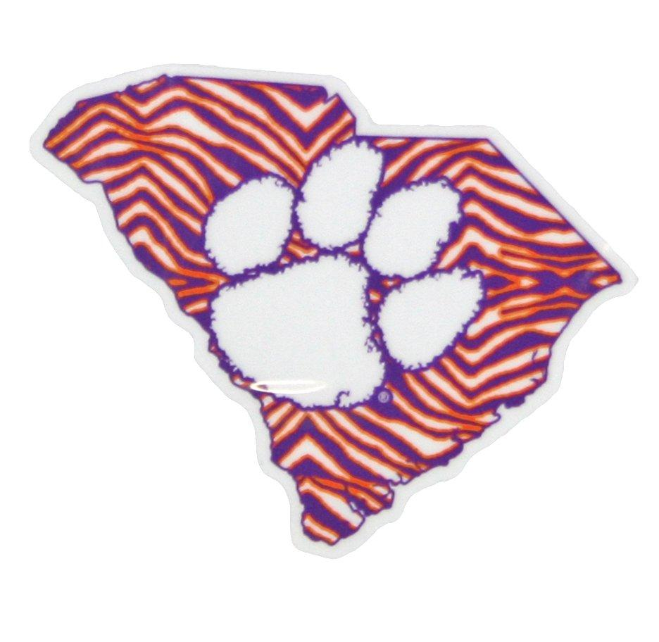 Clemson Tigers Zebra Print State Decal - Mr. Knickerbocker