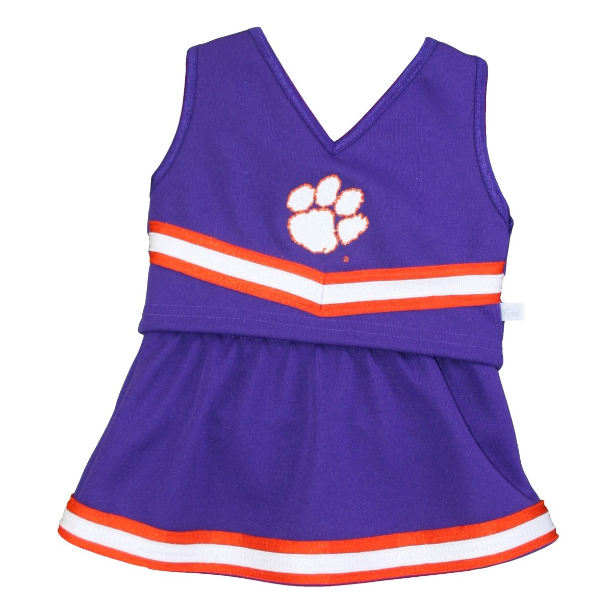 Clemson University 2 Piece Infant Cheerleading Outfit with Paw Print - Mr. Knickerbocker