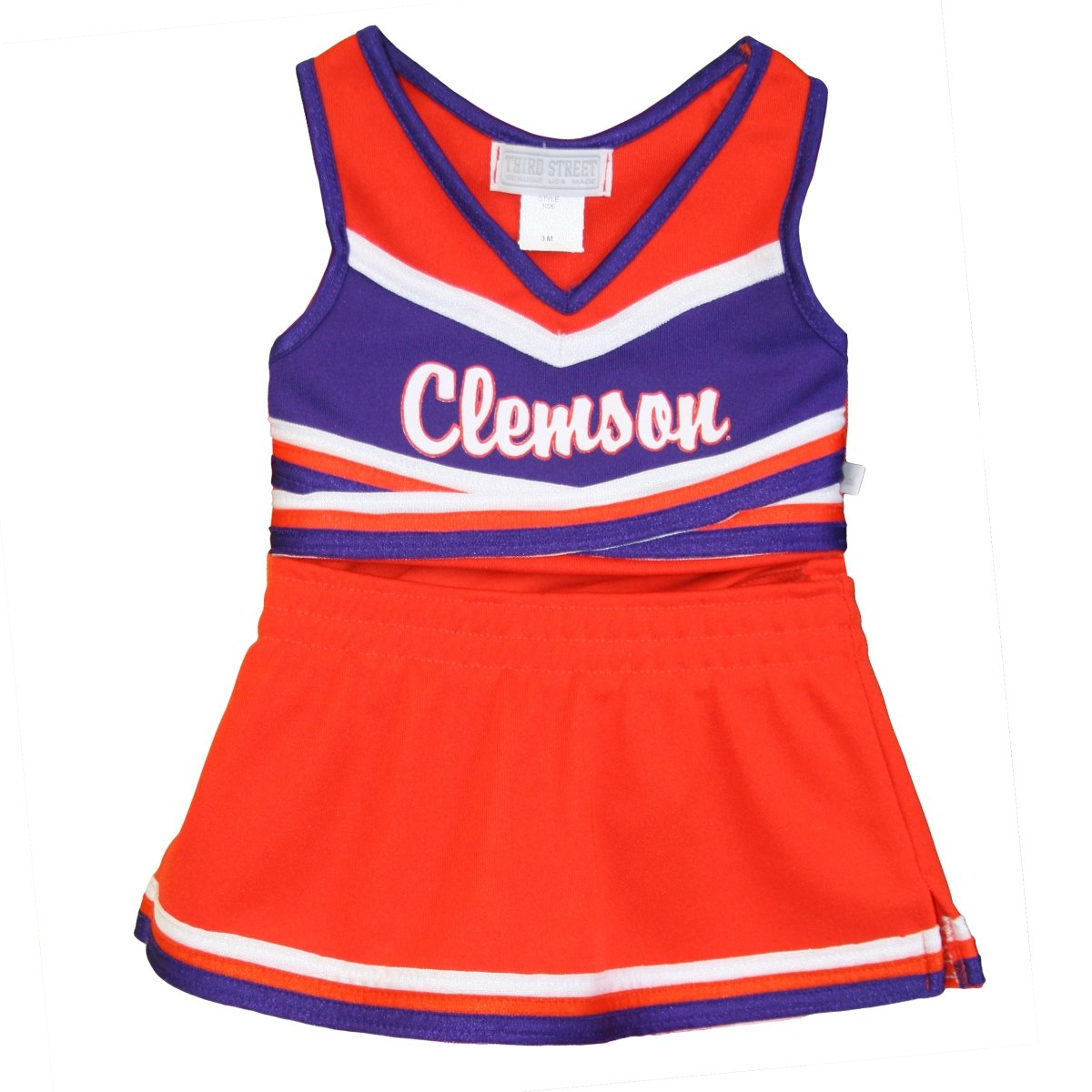 Clemson University 2 Piece Infant Cheerleading with Script - Mr. Knickerbocker
