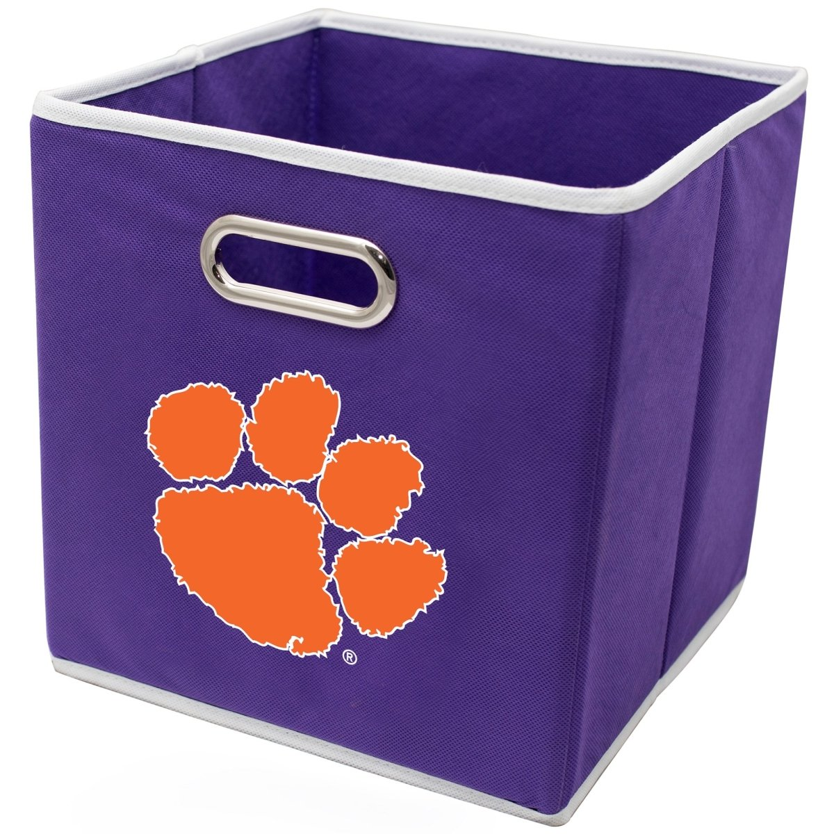 Collapsible Storage Bins - Purple With Orange Paw - Mr. Knickerbocker