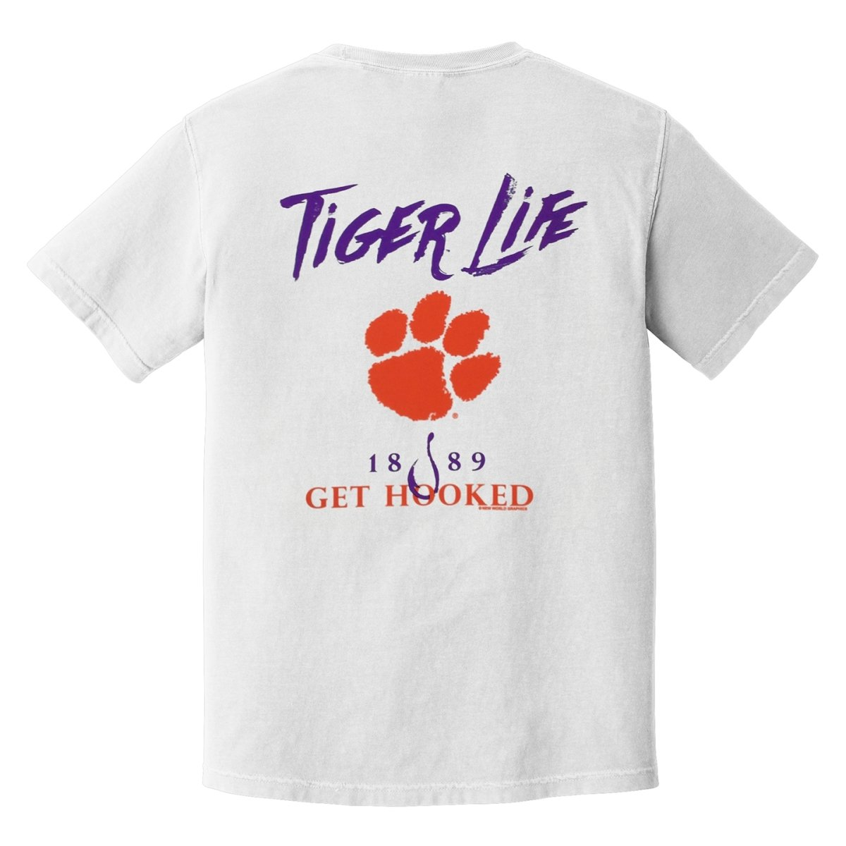 Comfort Colors Tiger Life Get Hooked Tee - Mr. Knickerbocker