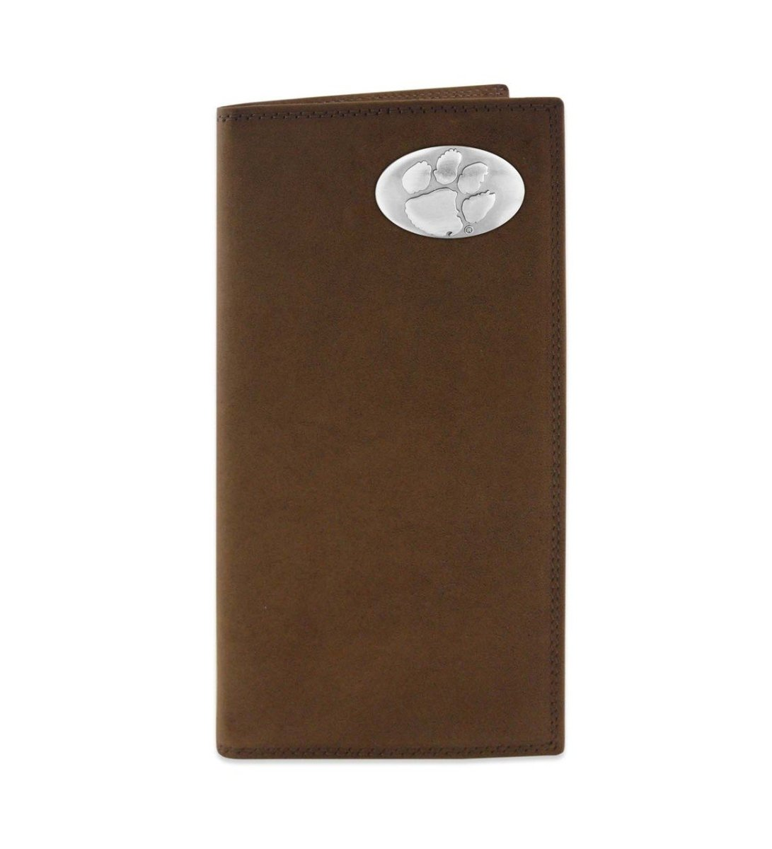 Crazy Horse Leather Pocket Secretary/checkbook Cover With Paw Concho - Mr. Knickerbocker