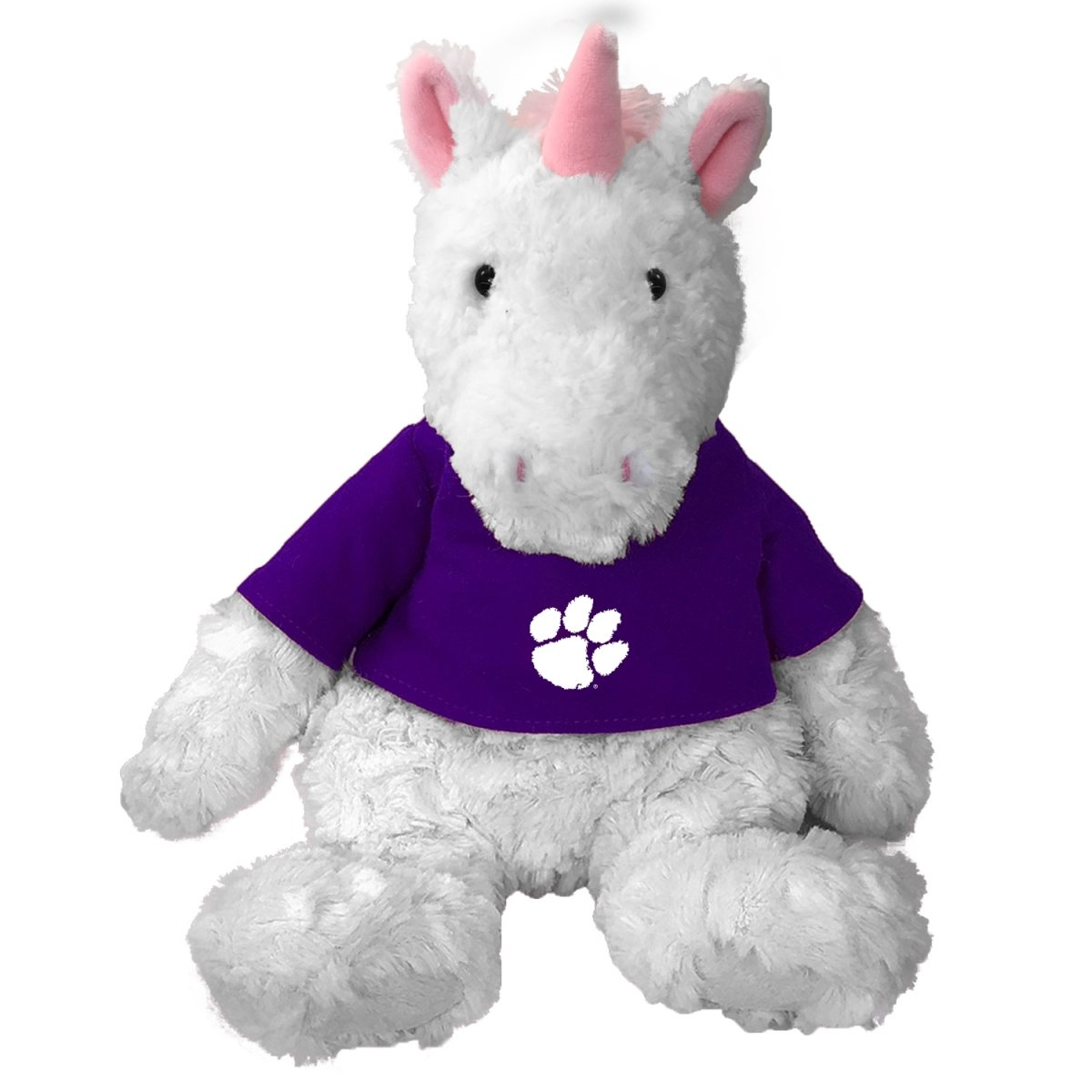 Cuddle Buddy Unicorn With Purple Shirt White Paw - Mr. Knickerbocker