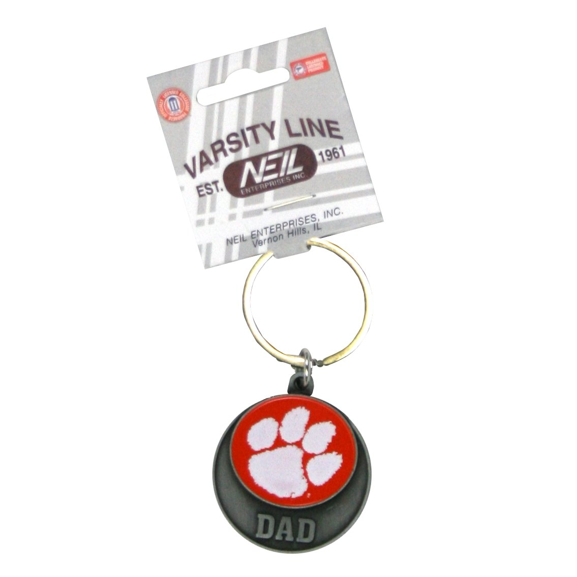 Dad Keytag Orange Disc With Paw - Mr. Knickerbocker