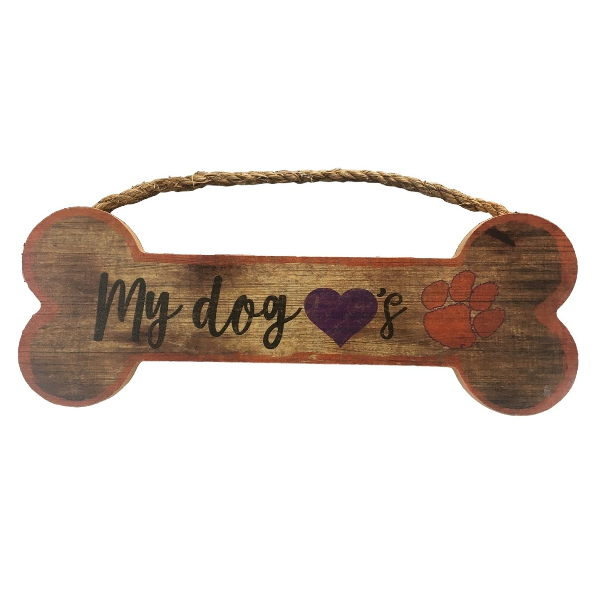 Distressed Dog Bone Wooden Sign 6''x 12'' - Mr. Knickerbocker