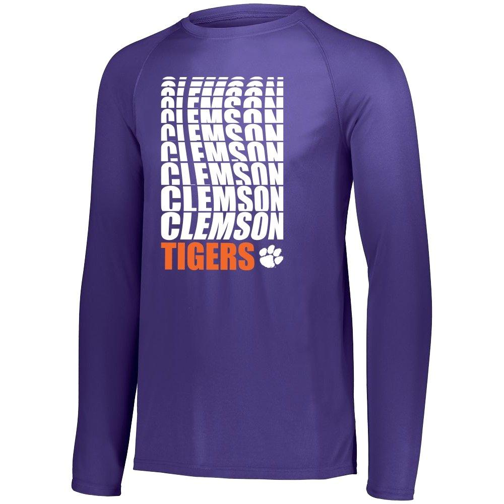 Dri-fit Long Sleeve Wavy Clemson Tigers - Mr. Knickerbocker