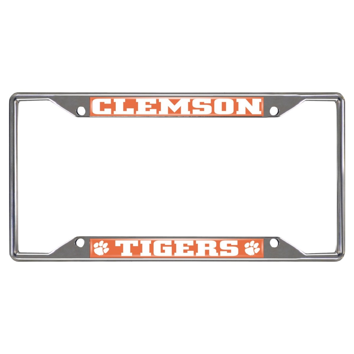 Fanmats Clemson Tigers Chrome License Plate Frame - Mr. Knickerbocker