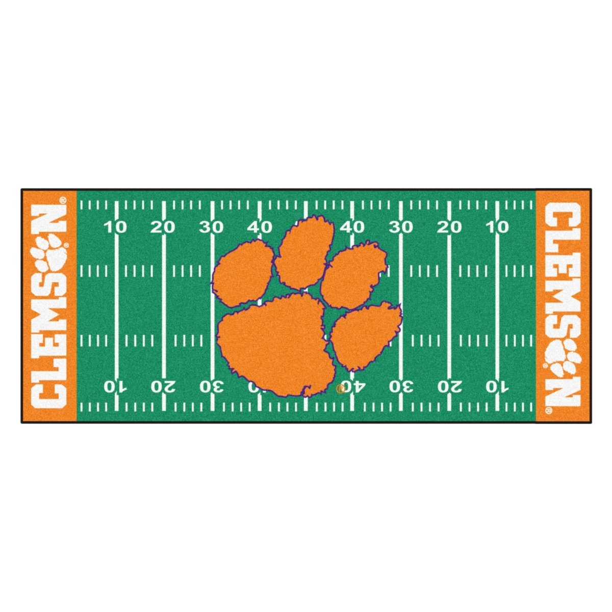 Fanmats Clemson Tigers Football Field Runner - Mr. Knickerbocker