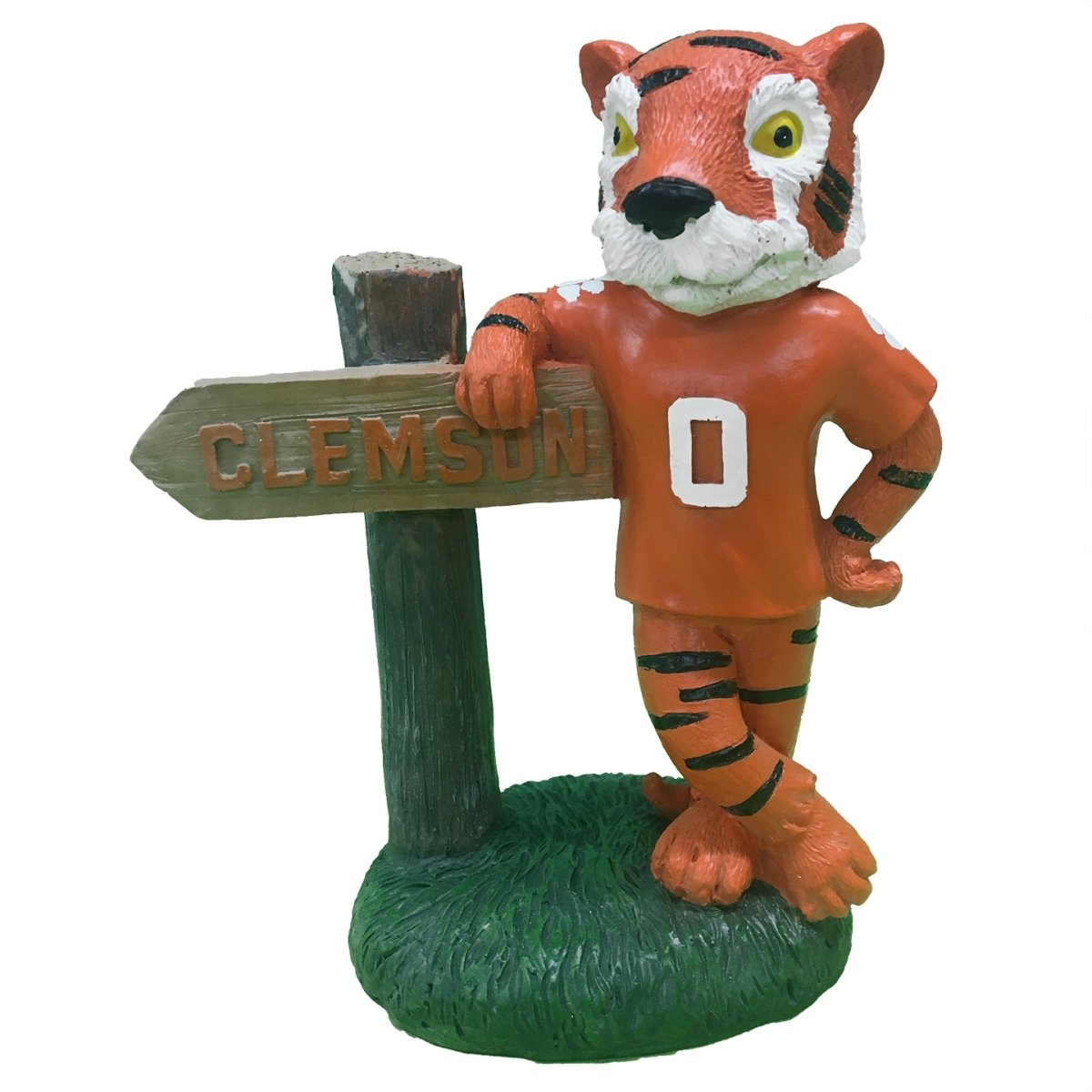 Garden Figurine - Mascot With Sign and Orange Shirt 10'' - Mr. Knickerbocker