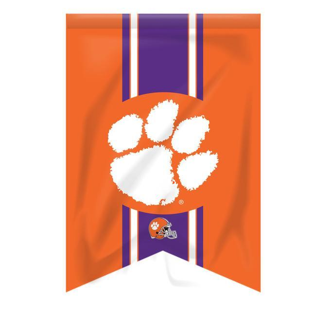 Garden Flag Vintage Cut Orange With White Paw Purple Stripe Football Helmet - Mr. Knickerbocker