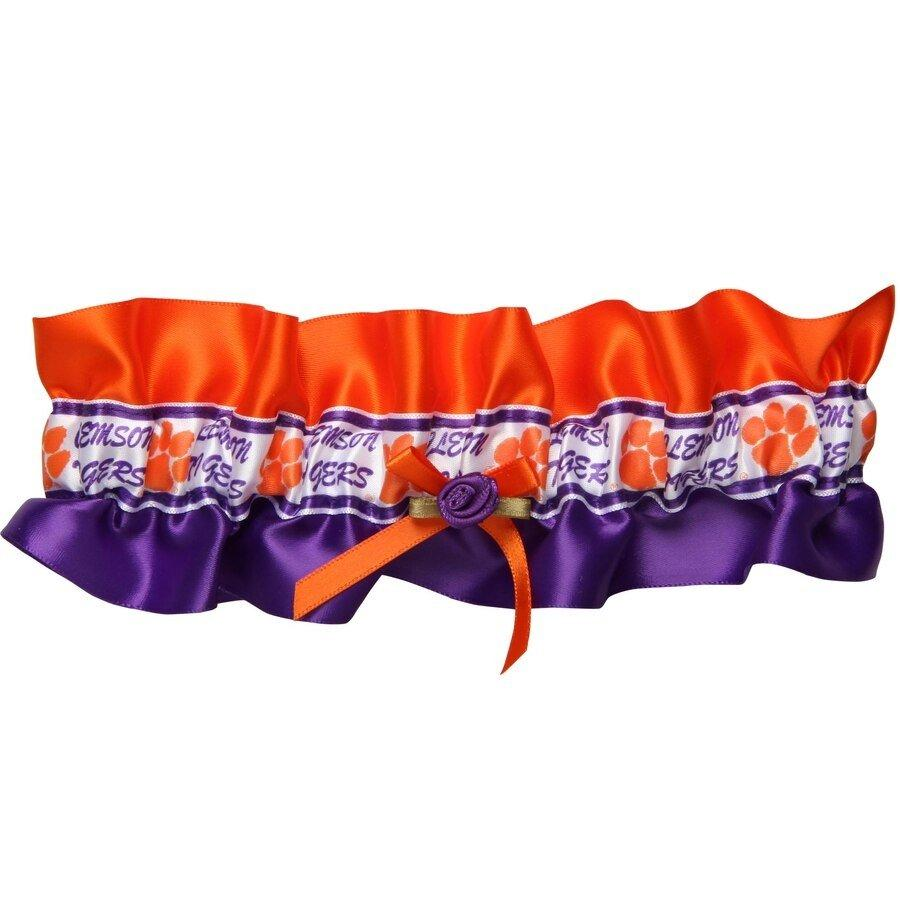 Garter Set - 2pc 1 to Keep, 1 to Throw Orange and Purple - Mr. Knickerbocker