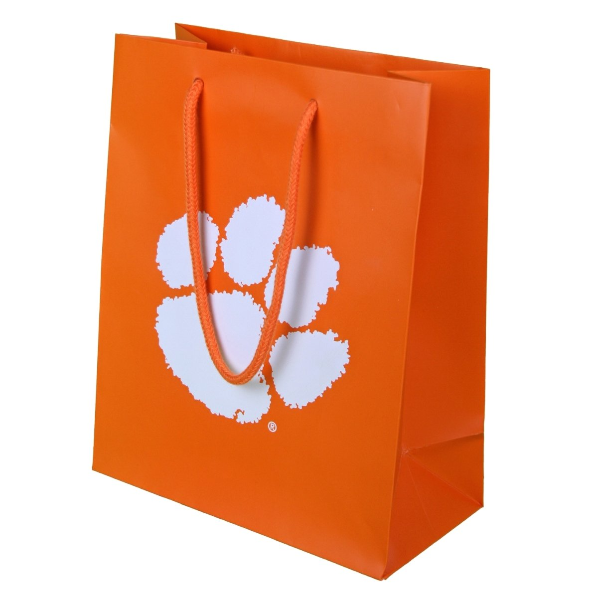 Gift Tote Medium Orange Matte With White Paw - Mr. Knickerbocker