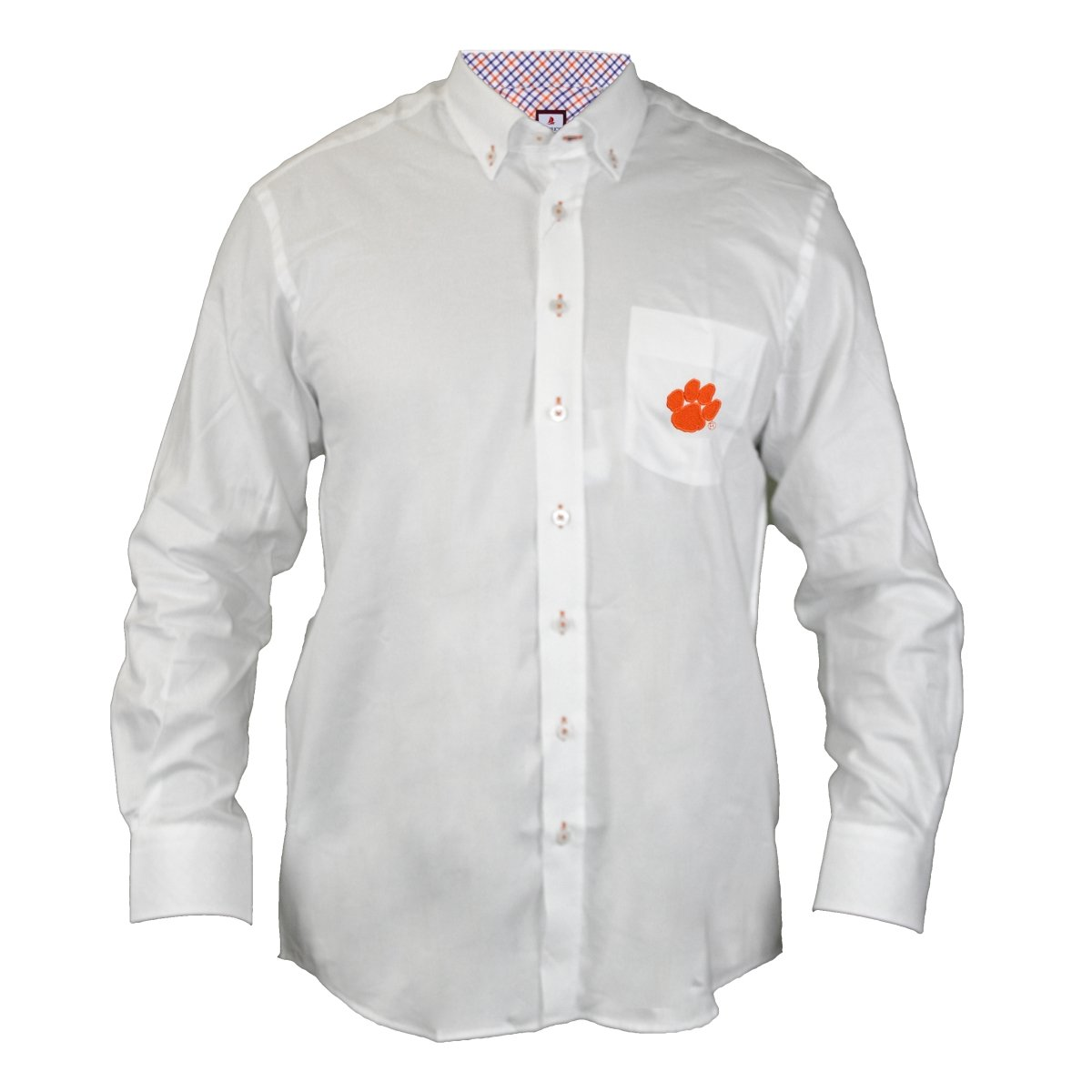 Gingham Dress Shirt Orange Paw - Mr. Knickerbocker