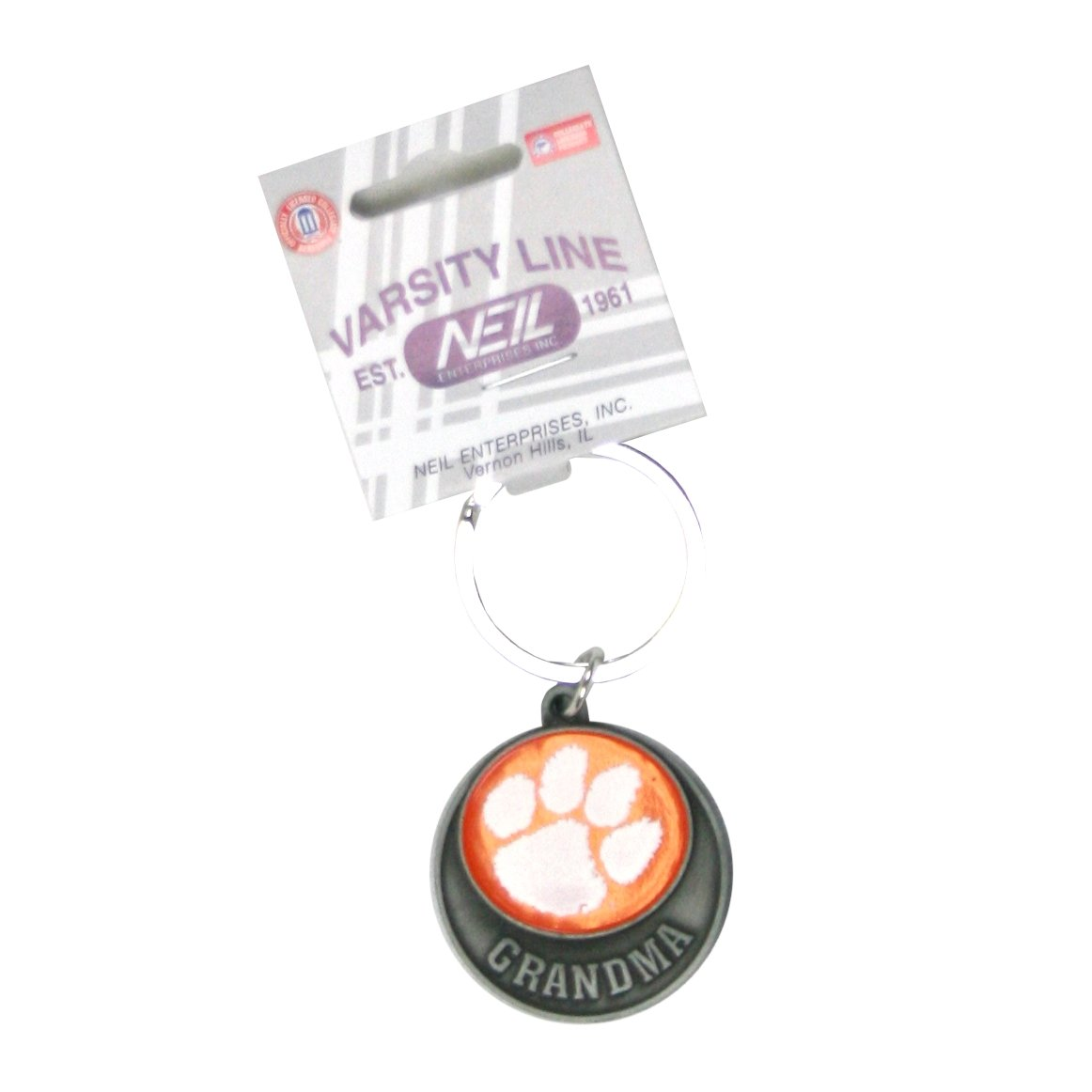 Grandma Keytag Orange Disc With Paw - Mr. Knickerbocker