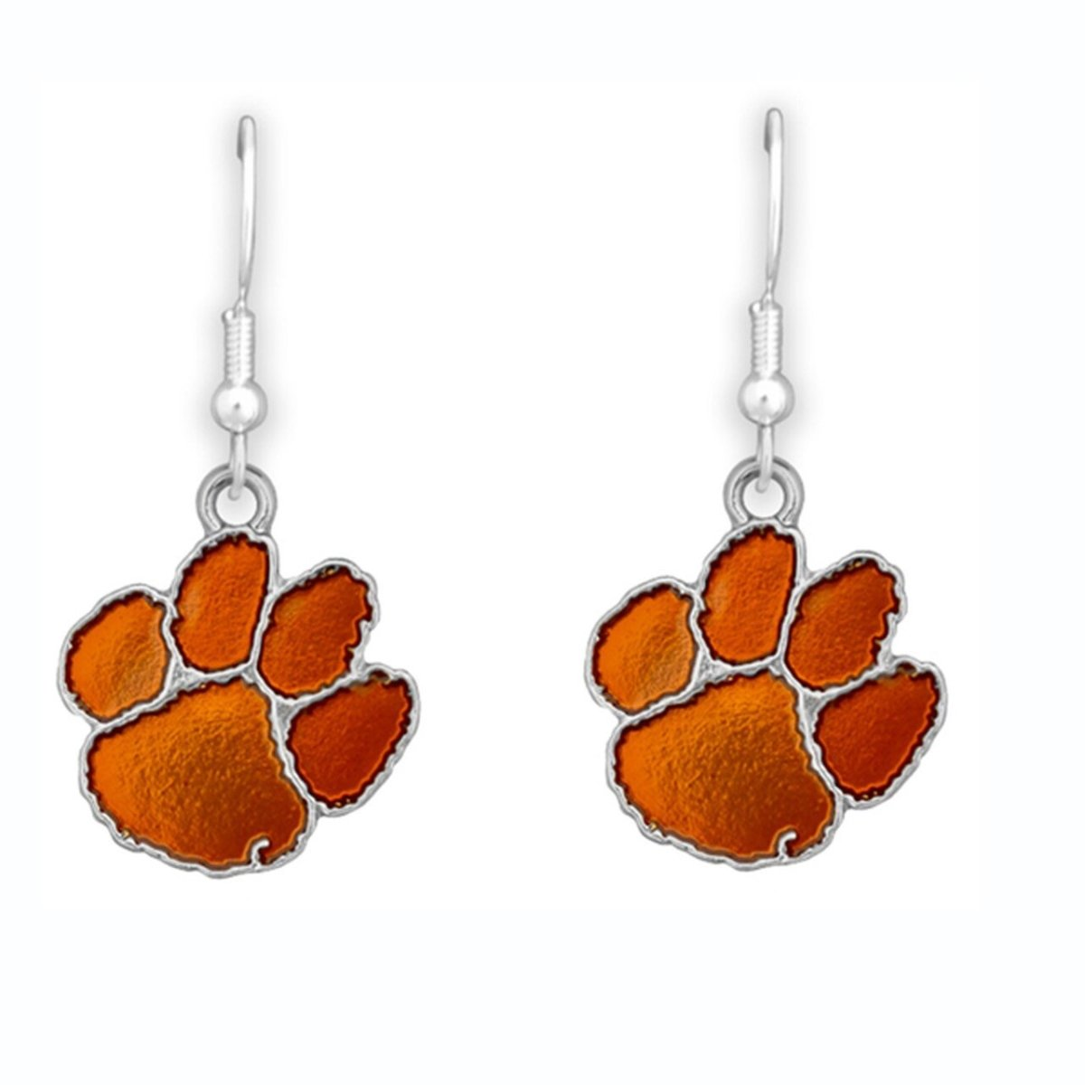 Hook Dangle Iridescent Earrings Orange Paw - Mr. Knickerbocker