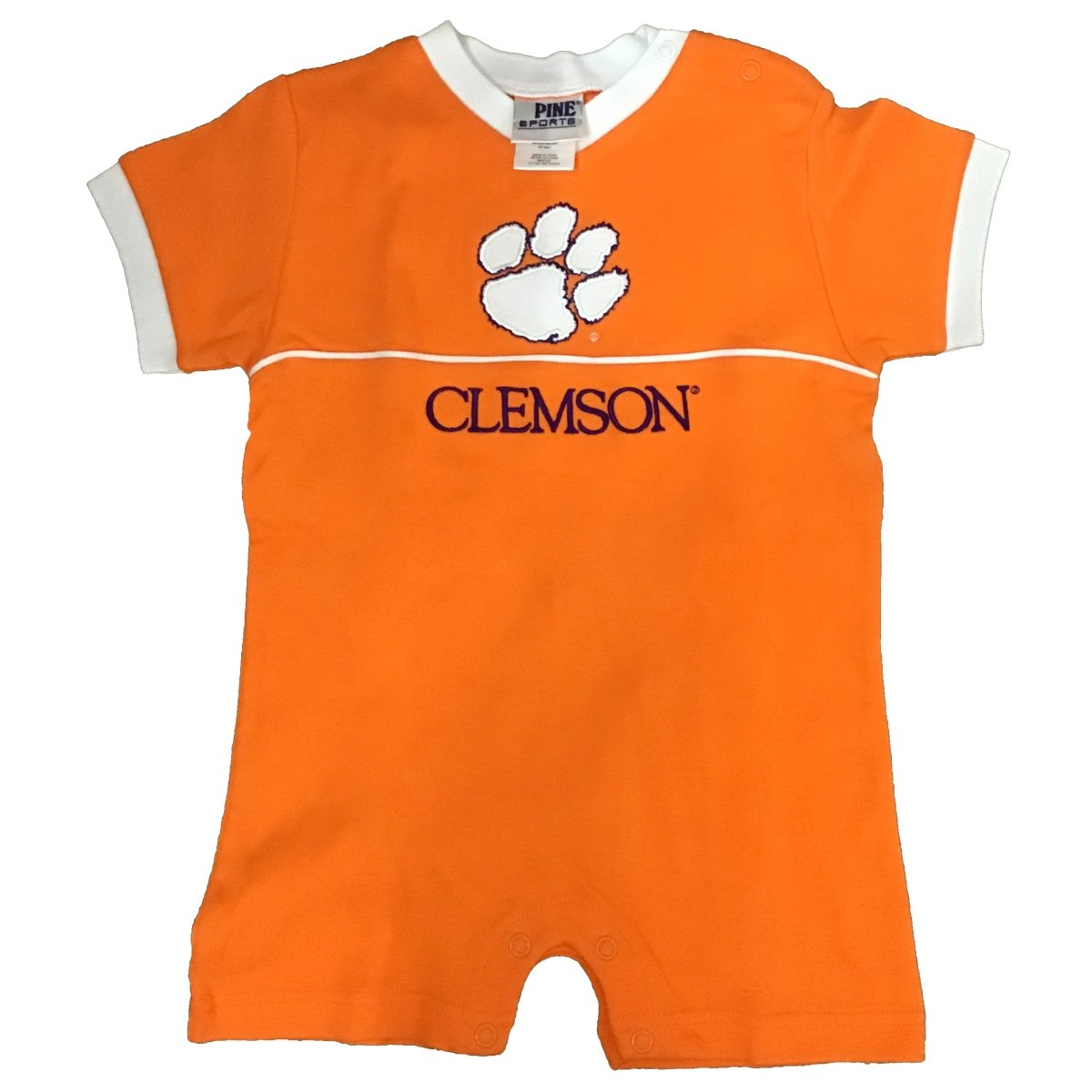 Infant Creeper With White Paw Purple Clemson - Mr. Knickerbocker