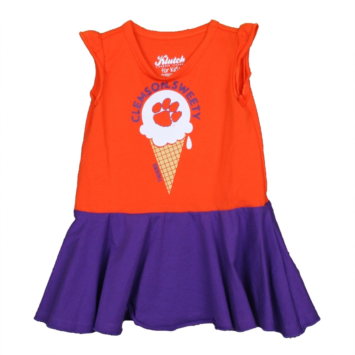 Infant Full Skirt Dress Clemson Sweety Ice Cream Cone - Mr. Knickerbocker