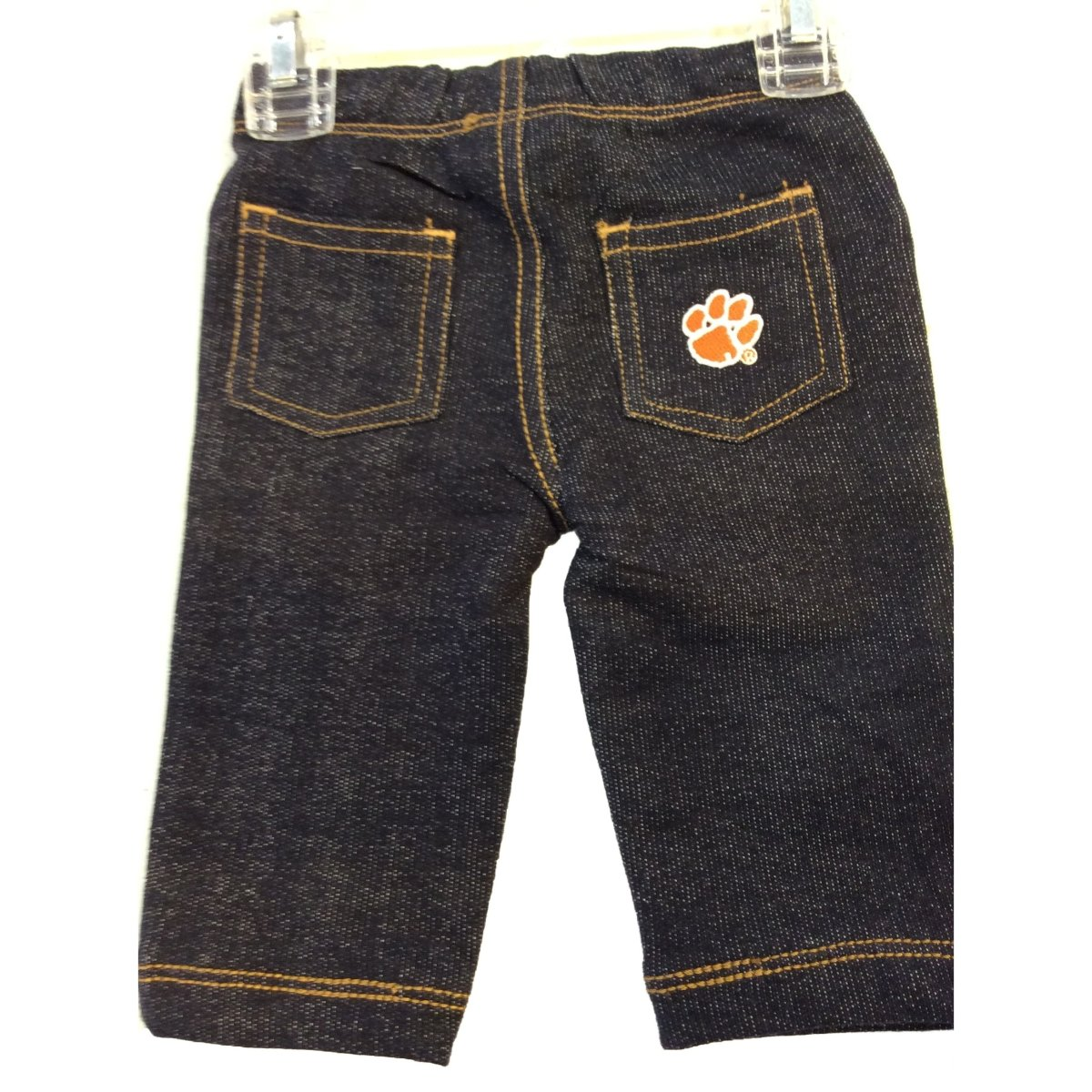 Infant Jean With Orange Paw White Outline - Mr. Knickerbocker