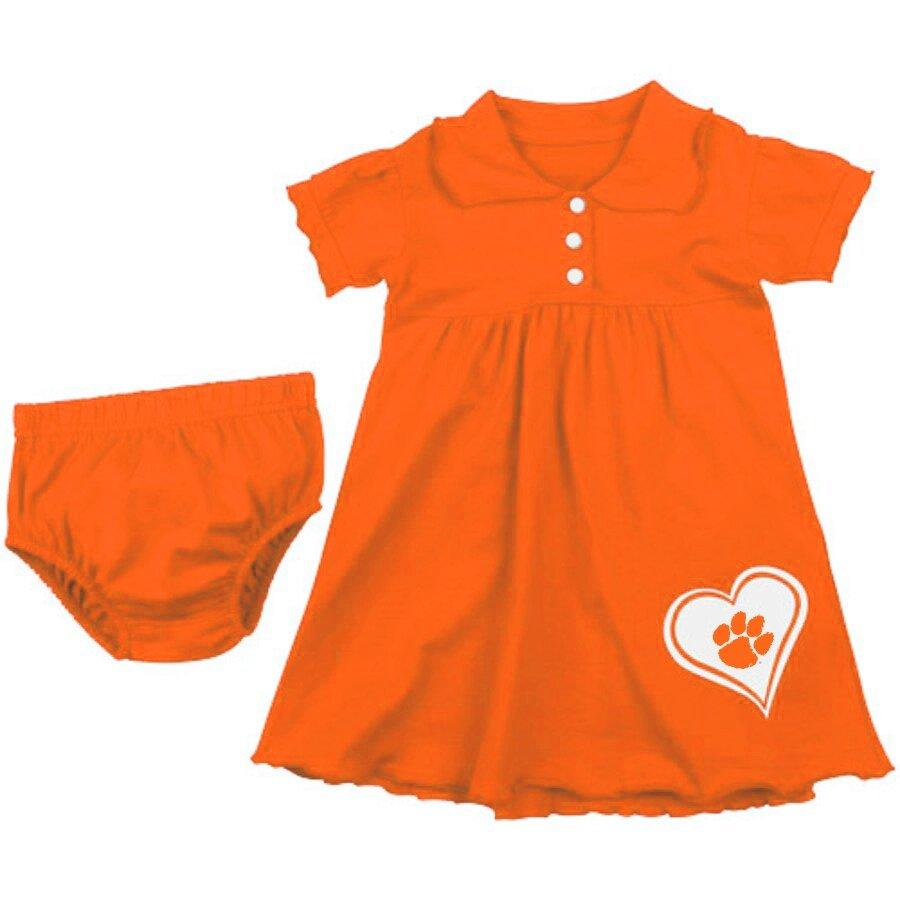 Infant Preppy Three Button Dress With Paw in Heart and Bloomers - Mr. Knickerbocker