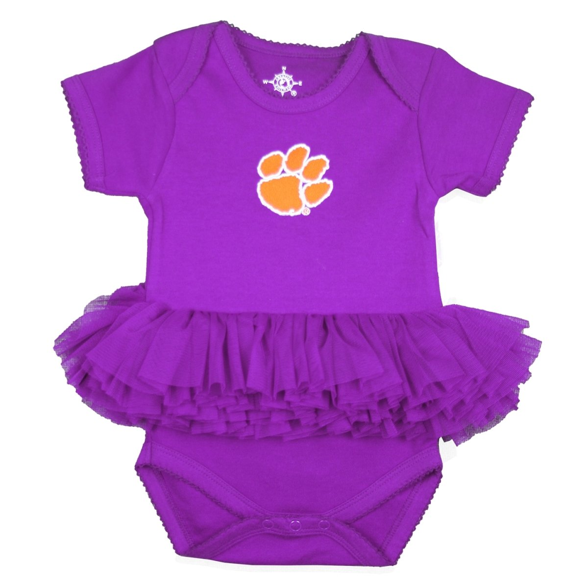 Infant Tutu Bodysuit With Orange Paw White Outline - Mr. Knickerbocker