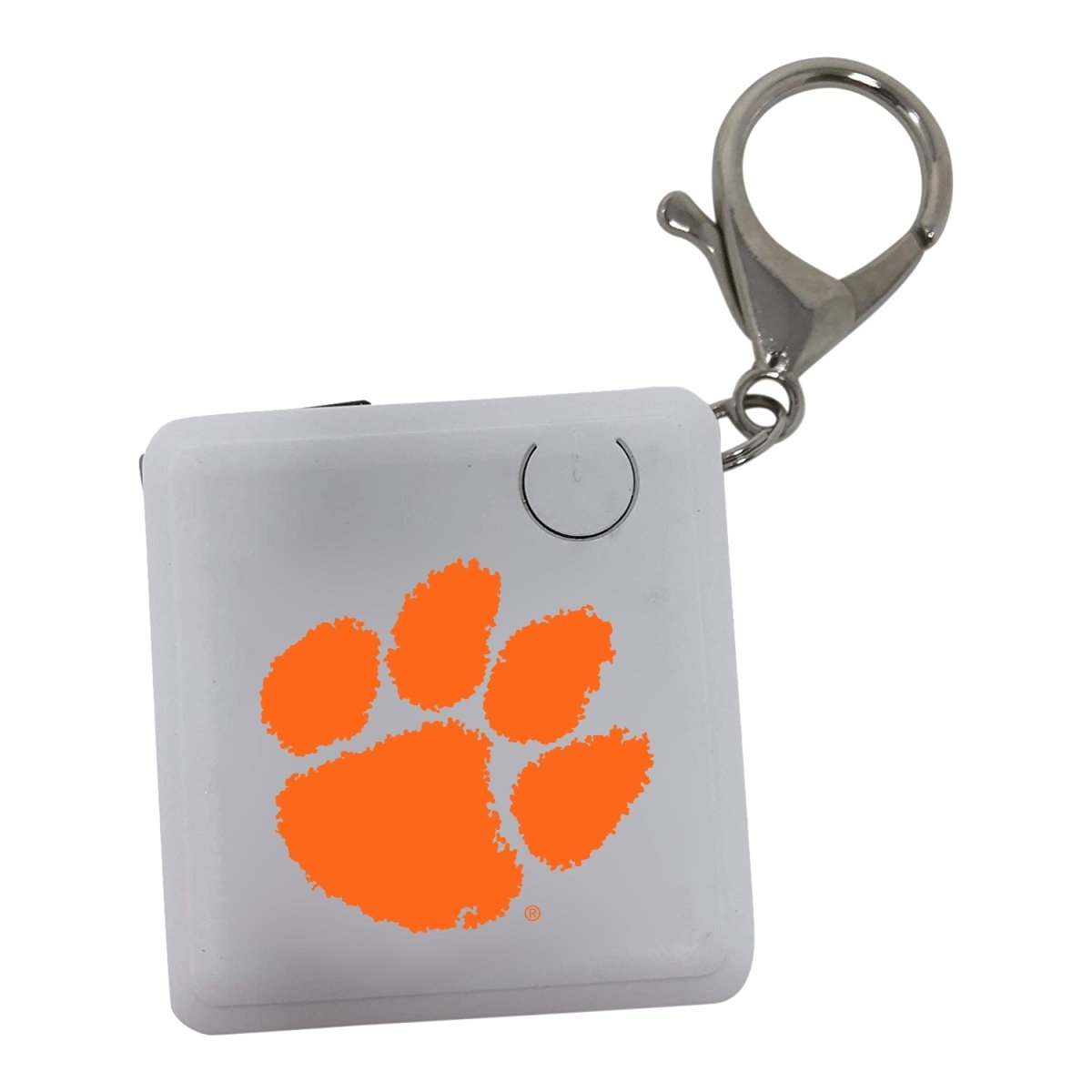 Key Tag Charger 1200mah, White With Orange Paw - Mr. Knickerbocker
