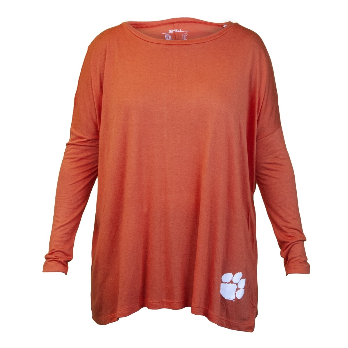 Ladies Long Sleeve Modal Campus Crush Tee With White Paw - Mr. Knickerbocker