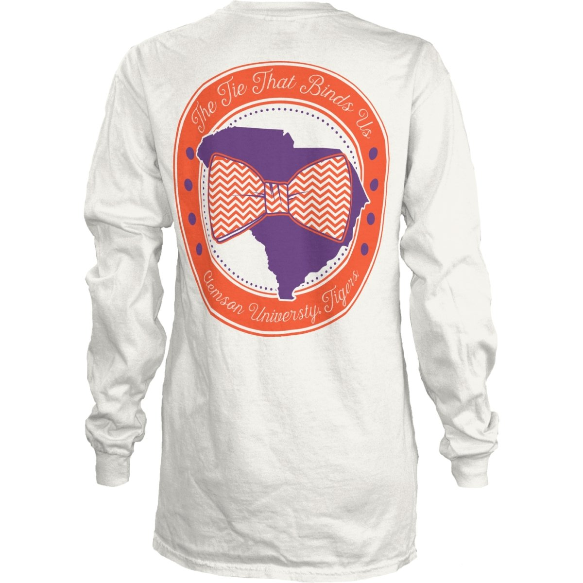 Ladies Long Sleeve Tee Bow Tie the Tie That Binds Us - Mr. Knickerbocker