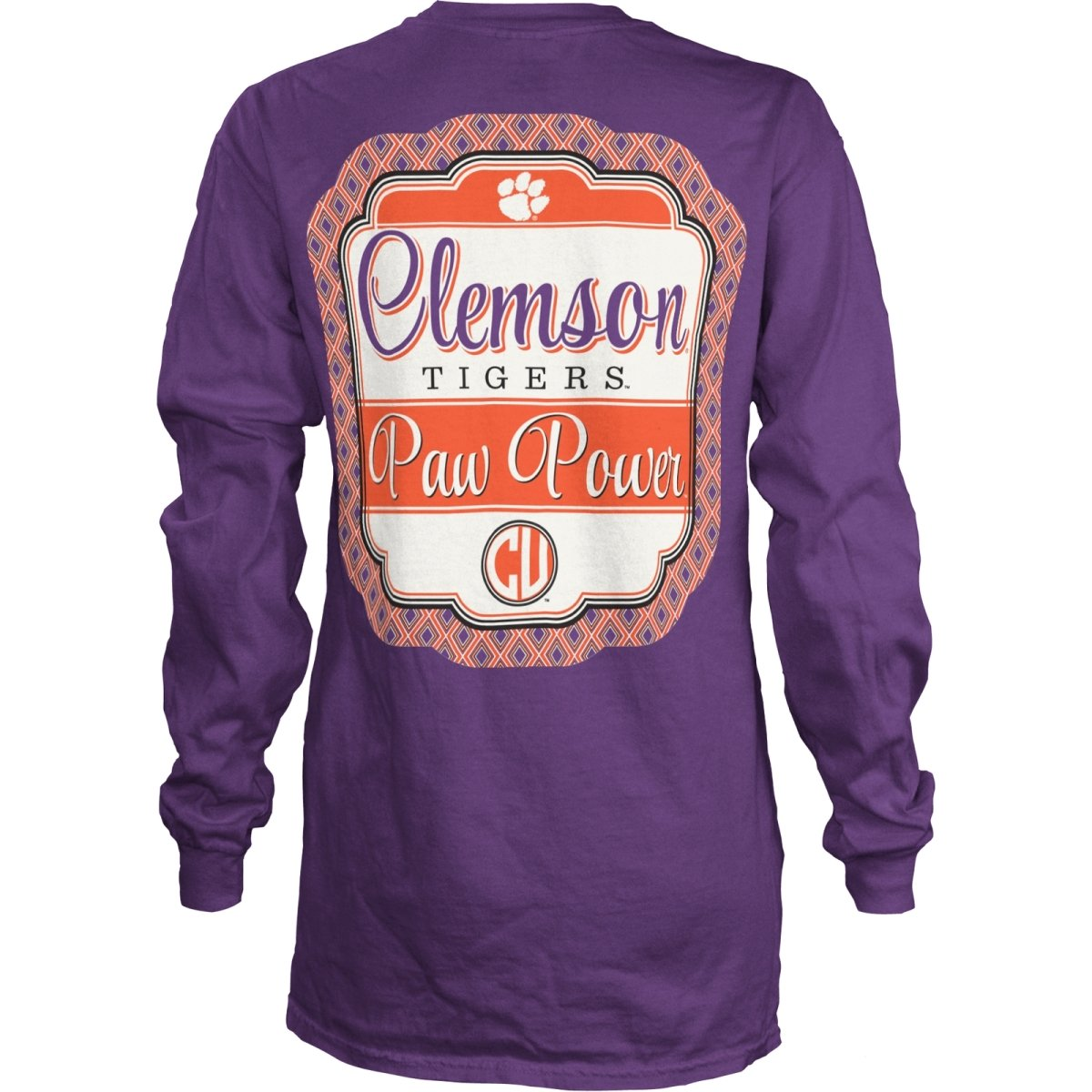 Ladies Long Sleeve Tee Diamond Frame Paw Power - Mr. Knickerbocker
