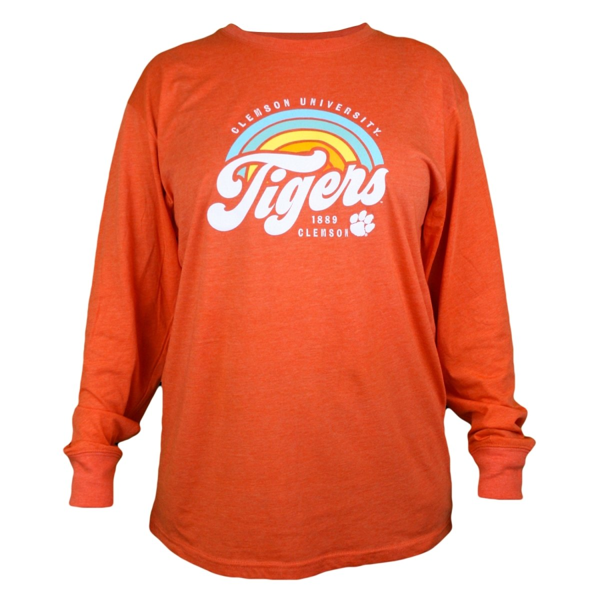 Ladies Melange Long Sleeve Tee Sunrise Script - Mr. Knickerbocker