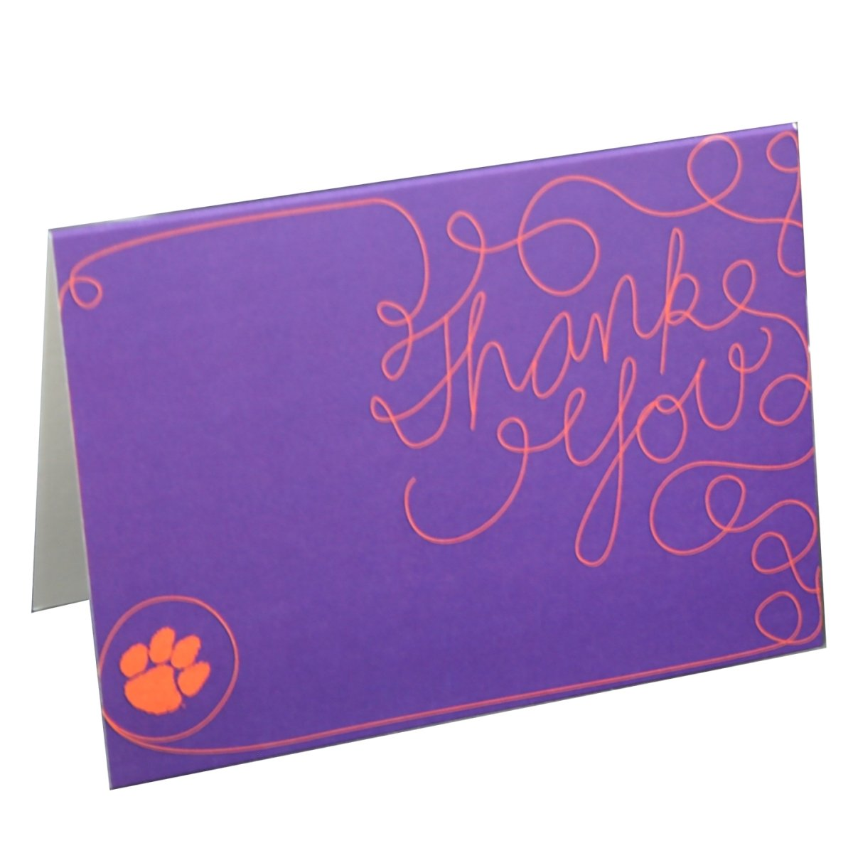 Lines Purple Thank You Greeting Card - Mr. Knickerbocker