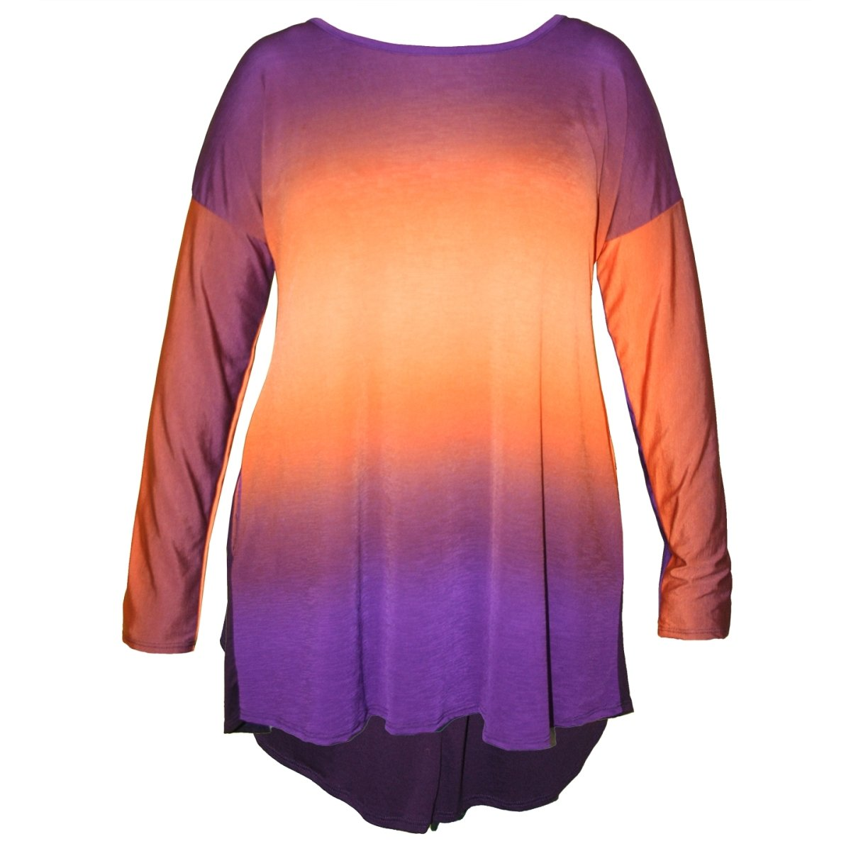 Long Sleeve Ombre Top With Criss Cross Back - Mr. Knickerbocker