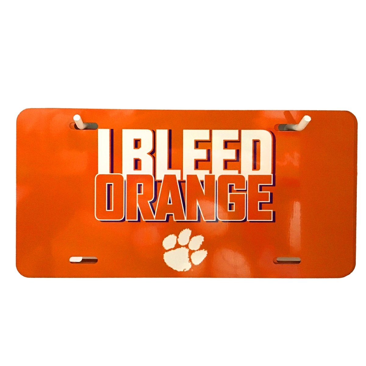 Metal License Plate I Bleed Orange - Mr. Knickerbocker