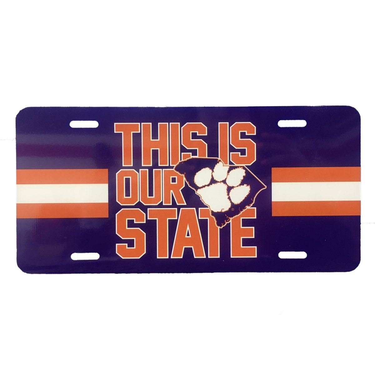 Metal License Plate This Is Our State Purple - Mr. Knickerbocker