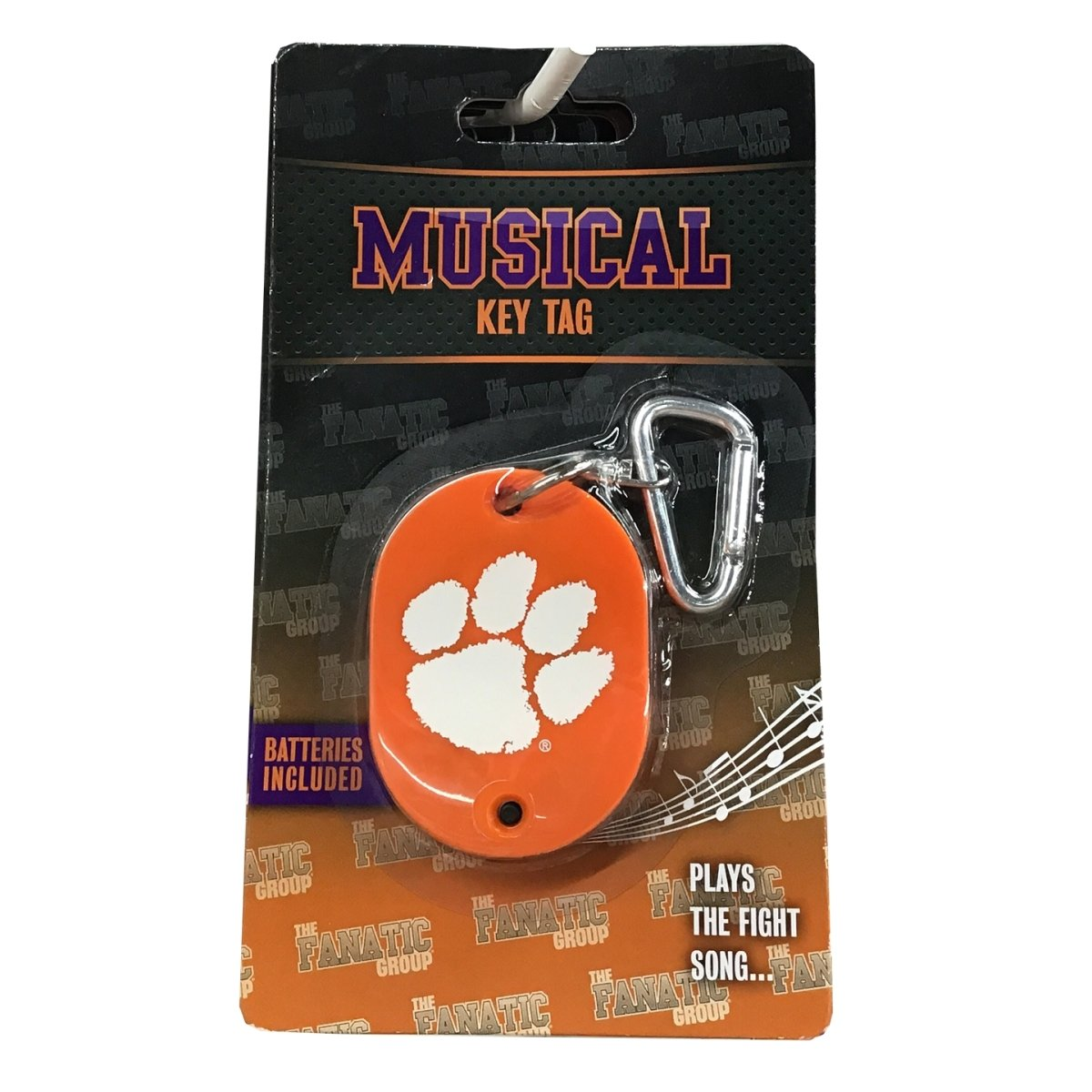Musical Tiger Rag Key Tag Orange With White Paw - Mr. Knickerbocker