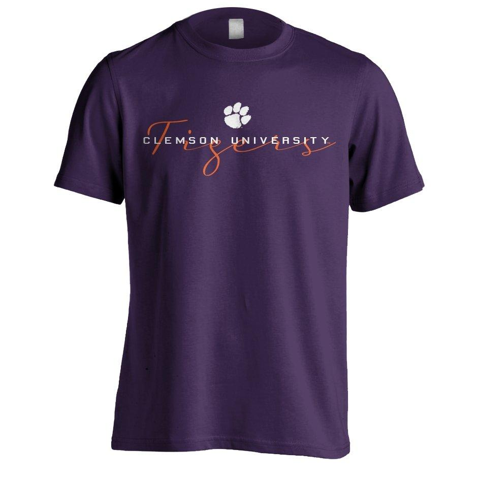 Next Level Clemson University Tigers Script T-shirt - Mr. Knickerbocker