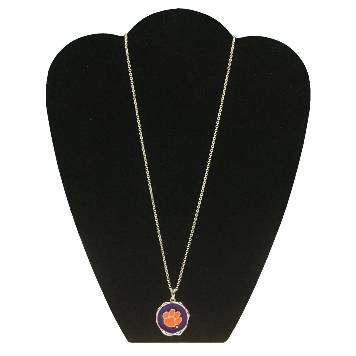 Nuria Pendant Necklace - Purple With Orange Paw - Mr. Knickerbocker