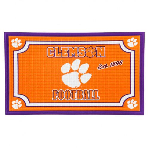 Orange Embossed Clemson Football Door Mat - Mr. Knickerbocker