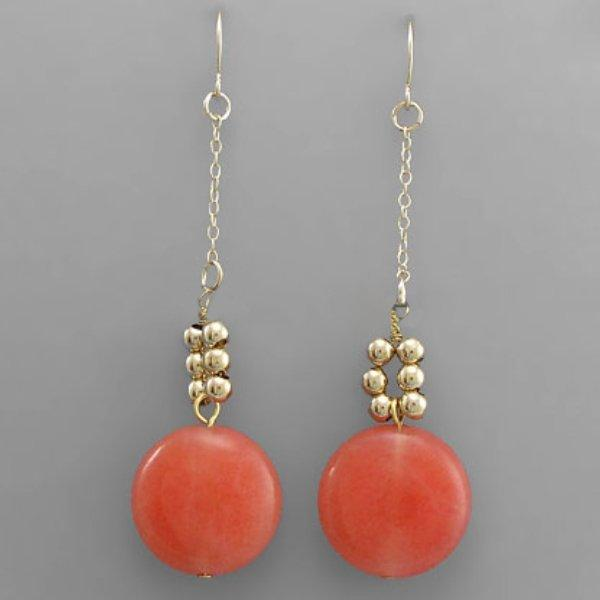 Orange Stone Dangle Earrings - Mr. Knickerbocker