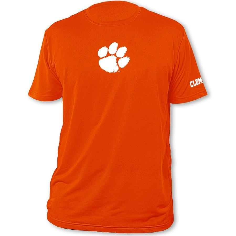 Performance Knit Tee With Paw on Center Chest and Clemson on Left Sleeve - Mr. Knickerbocker