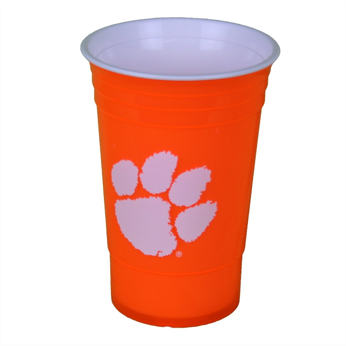 Plastic Party Cup With White Paw - Orange - Mr. Knickerbocker