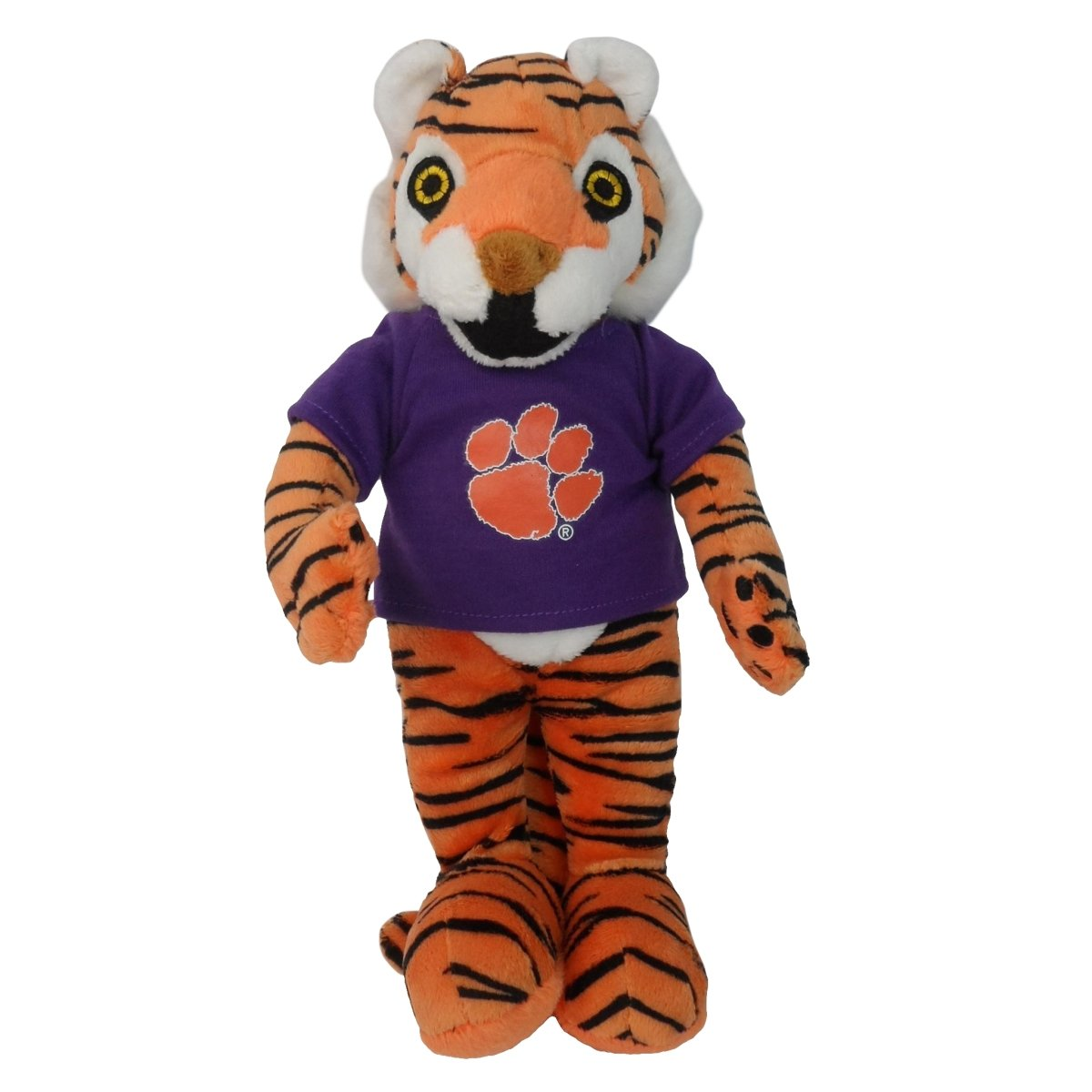 "Plush Tiger With Purple Tee - 11"" - Mr. Knickerbocker"