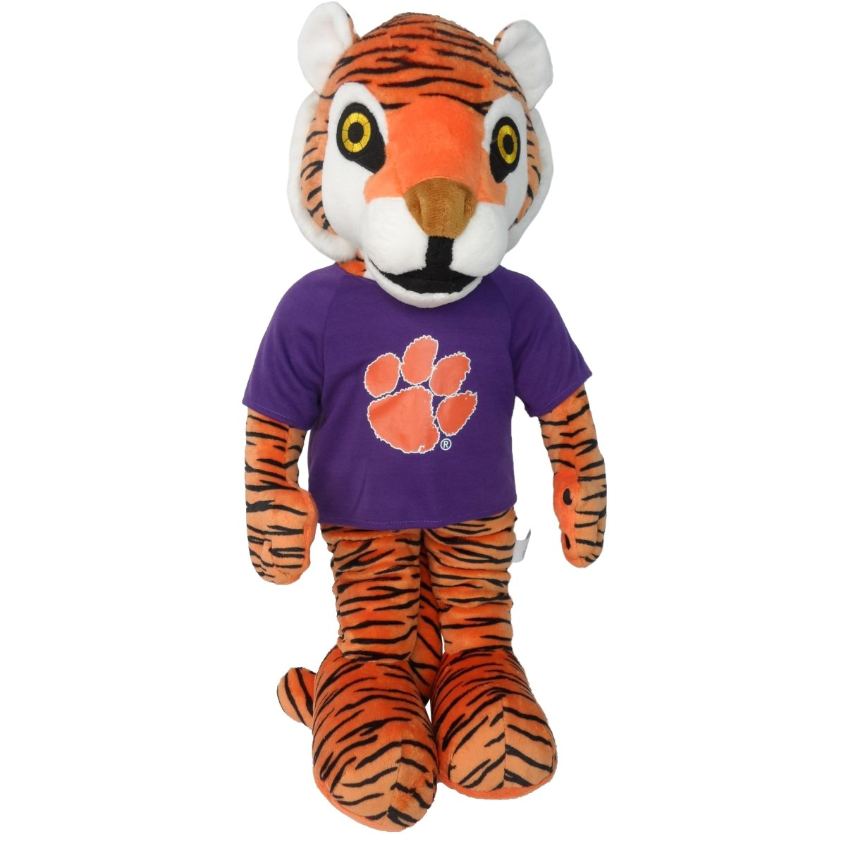 "Plush Tiger With Purple Tee - 22"" - Mr. Knickerbocker"